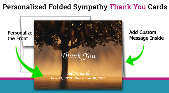 sympathy card thank you