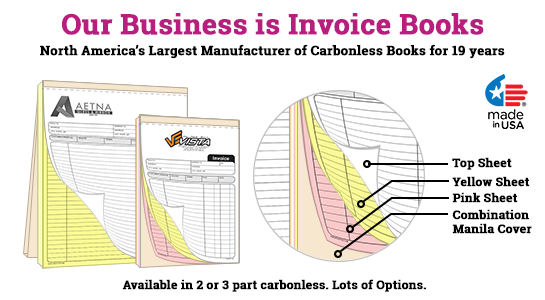 2 part invoice books