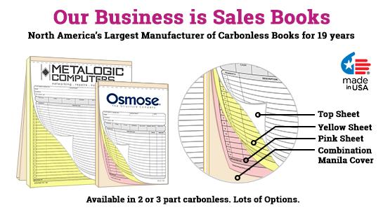 carbonless sales receipt books