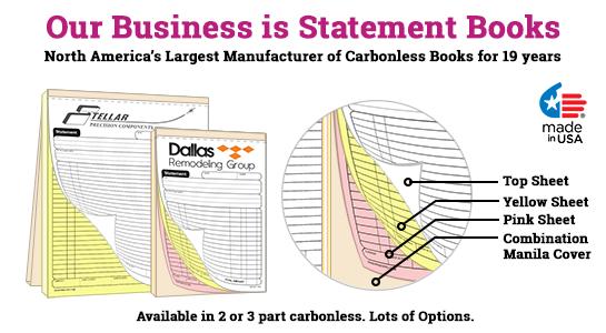 3 part statement books