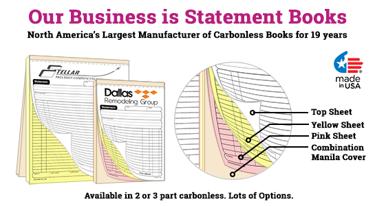 carbonless statement books