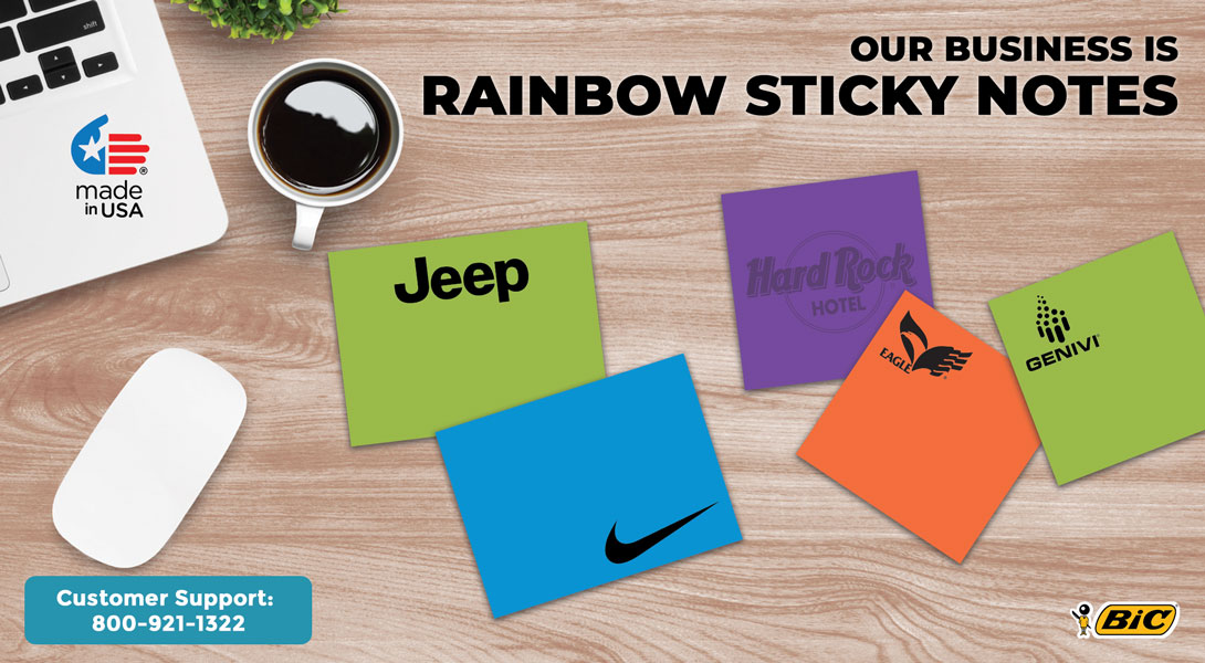 Personalized rainbow sticky notes