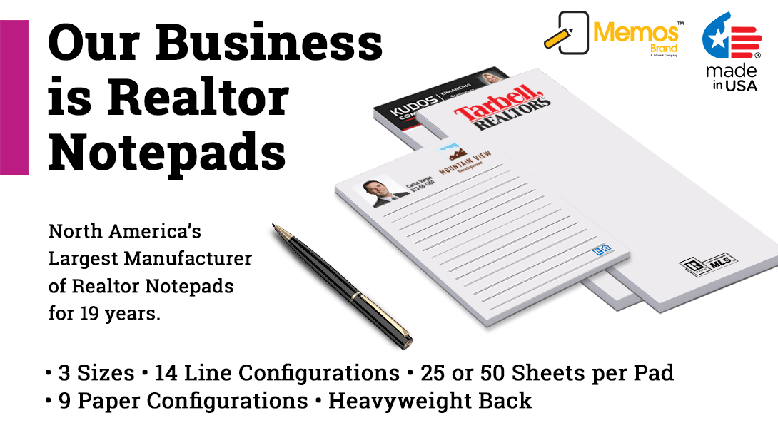 cheap real estate notepads