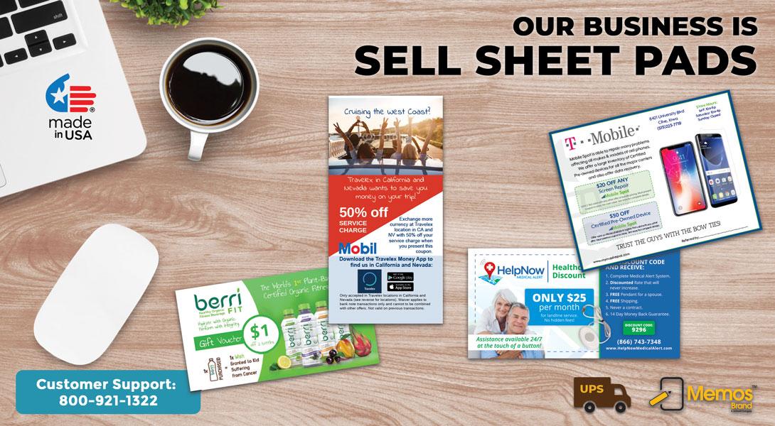 printed selling sheets