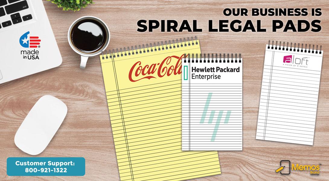 Custom Spiral Legal Pads