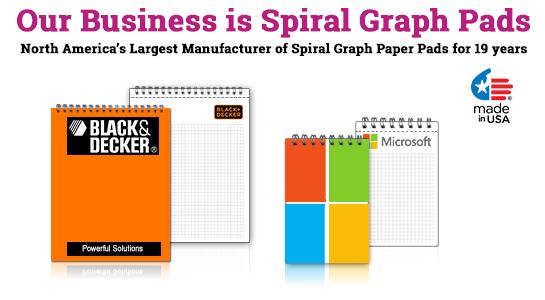 Custom spiral graph paper books