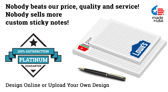 personalized sticky note graph pads