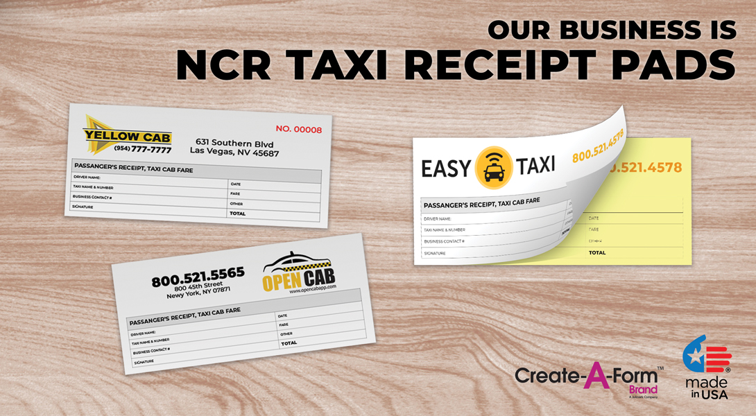 Taxi invoice receipts