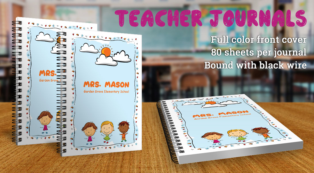 Teacher gift notebooks