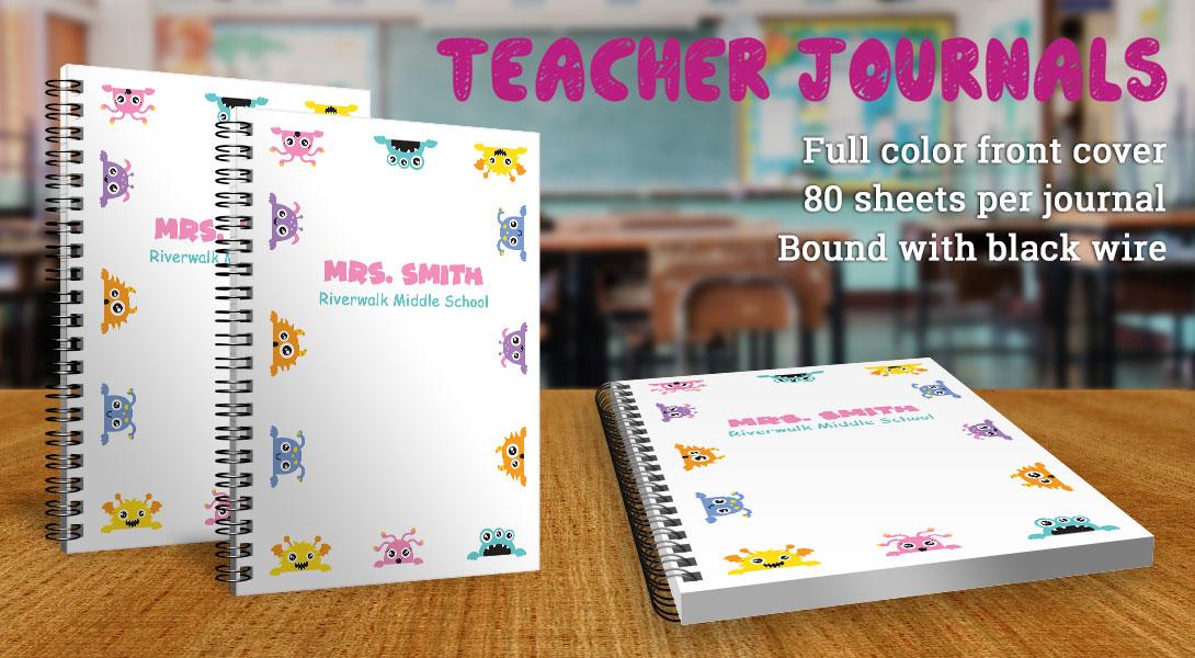 Teacher gift notebooks