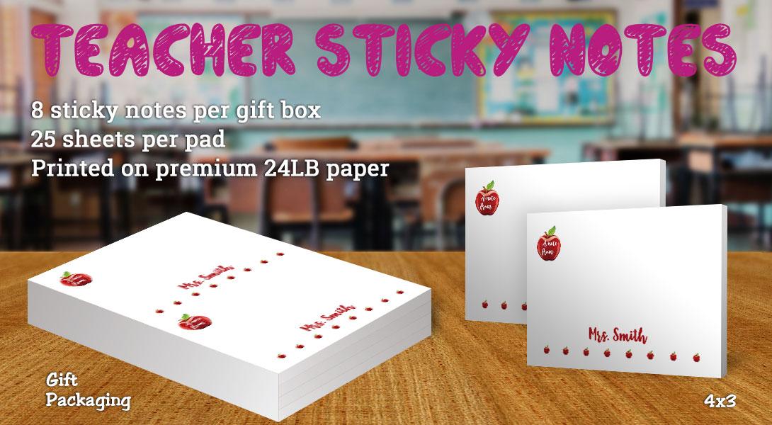 Teacher gift sticky notes-Apples
