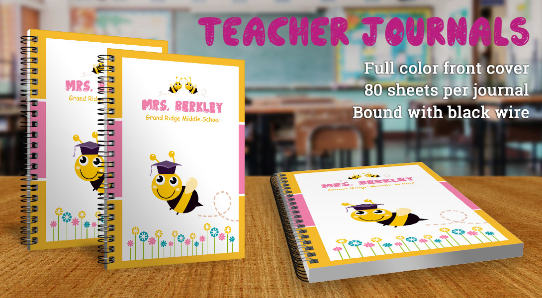 Teacher gift journals