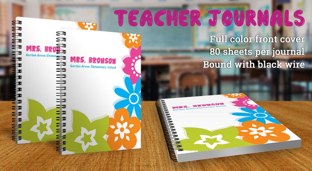 Teacher gift journals