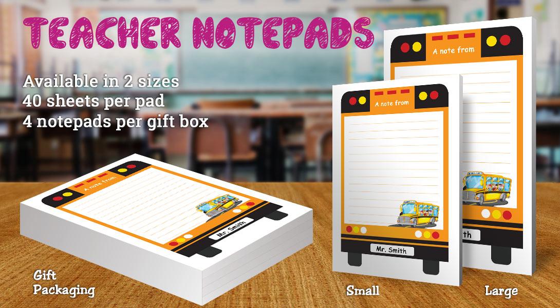 Teacher Gift Notepad-Bus
