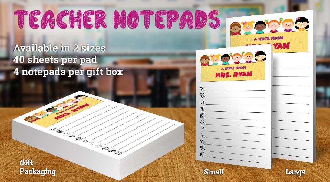 Teacher Gift Notepads-Children & Banner