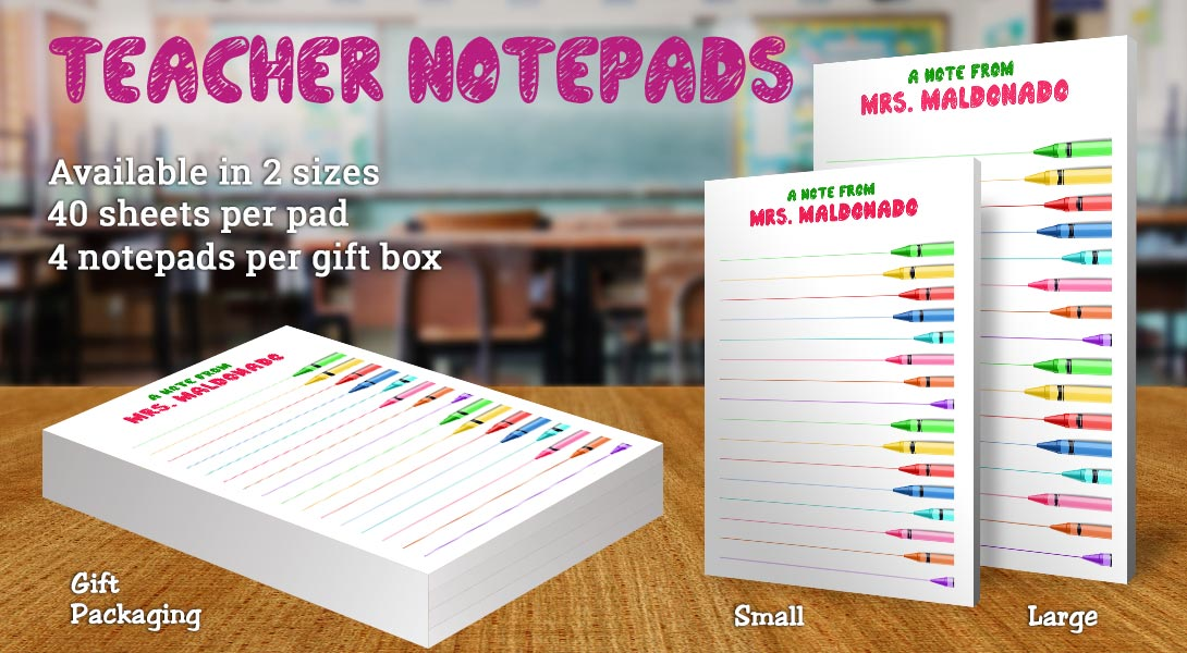Teacher Gift Notepads-Crayons