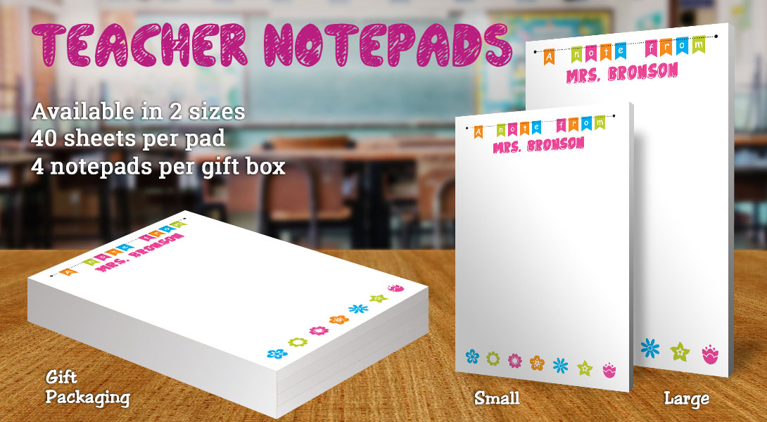 Teacher Gift Notepads-Flowers