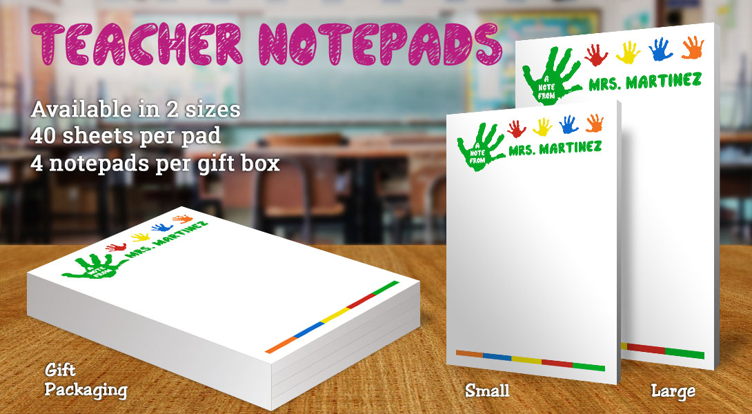 Teacher Gift Notepad-Handprint