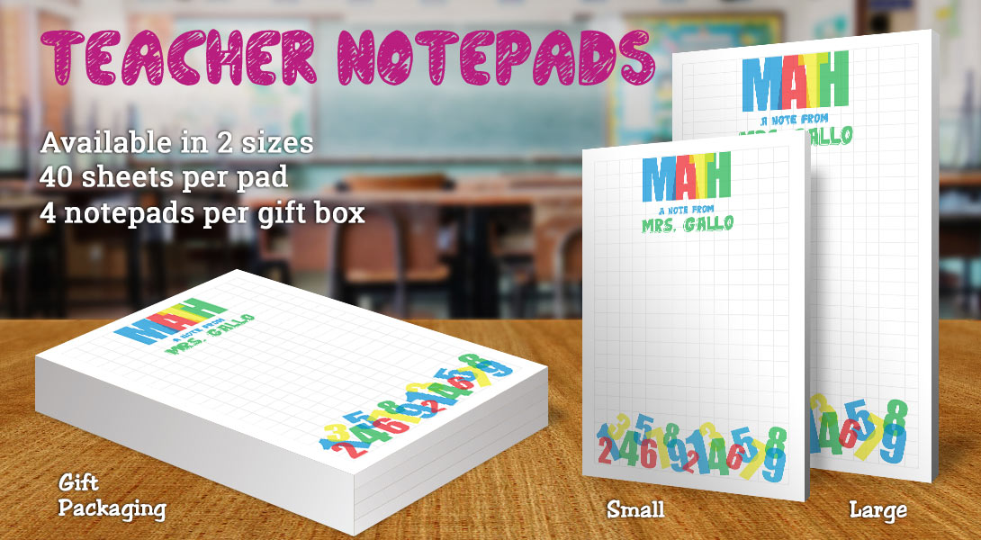 Teacher Gift Notepad-Math