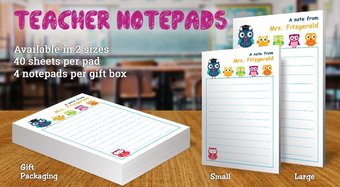 Teacher Gift Notepad-Owls