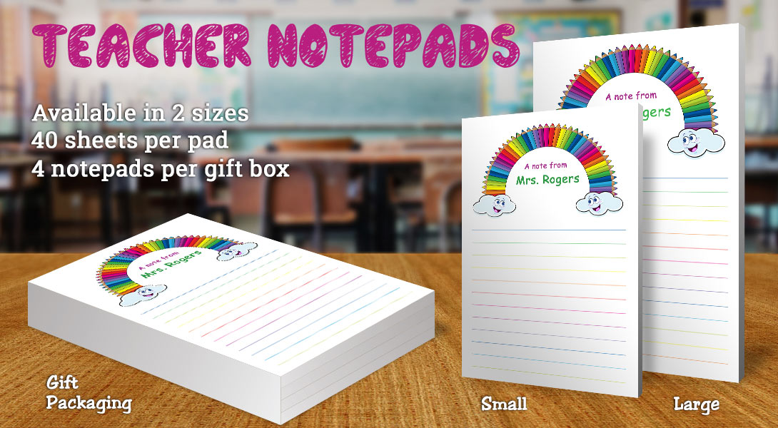 Teacher Gift Notepad-Colored Pencil Rainbow