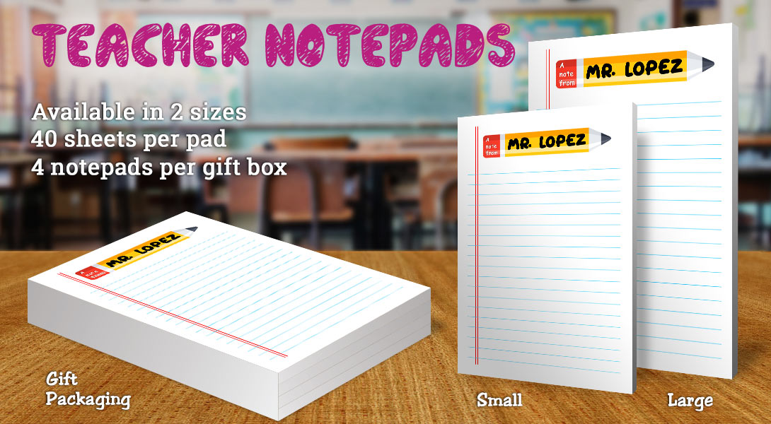 Teacher Gift Notepad-Pencil