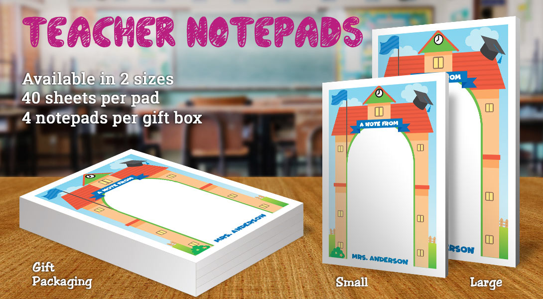 Teacher Gift Notepad-School House