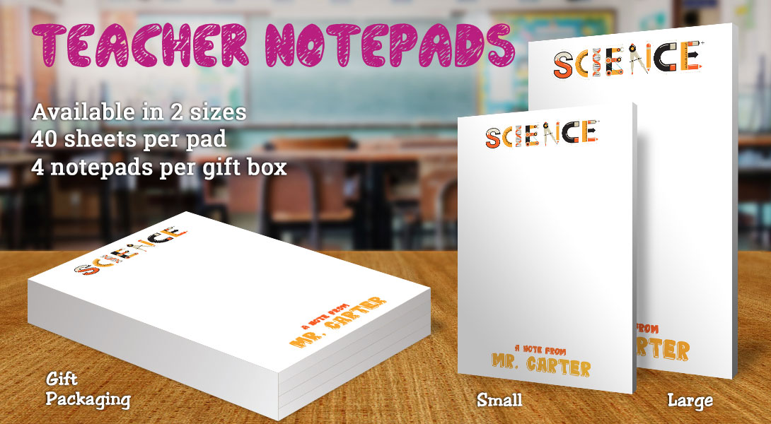 Teacher Gift Notepad-Science