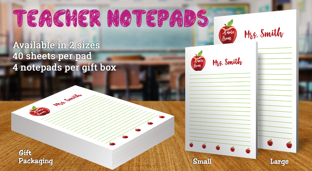 Teacher Gift Notepad-Apples