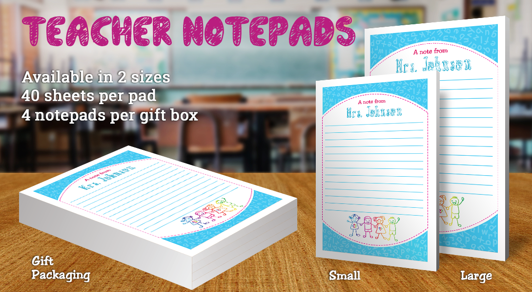 Teacher Gift Notepad-Children Holding Hands