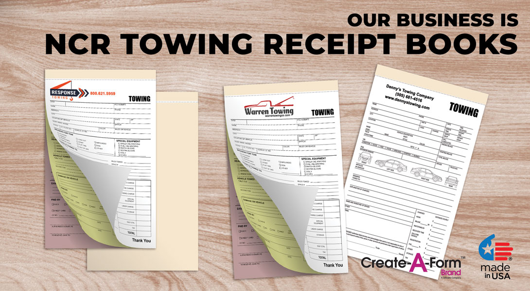 Towing receipt books