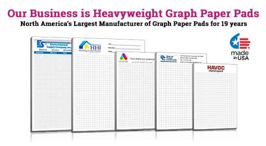 customized graph paper pads