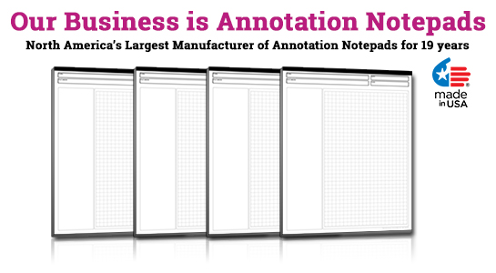 annotation ruled notepads