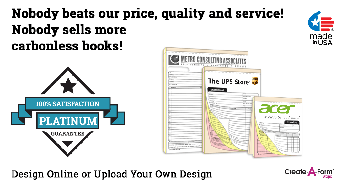 custom ncr invoice statement sales receipt book