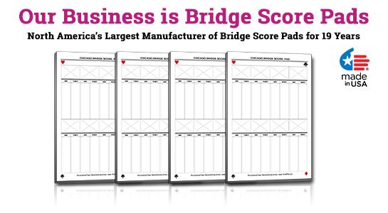 contract bridge score pads