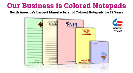 colored memo pads