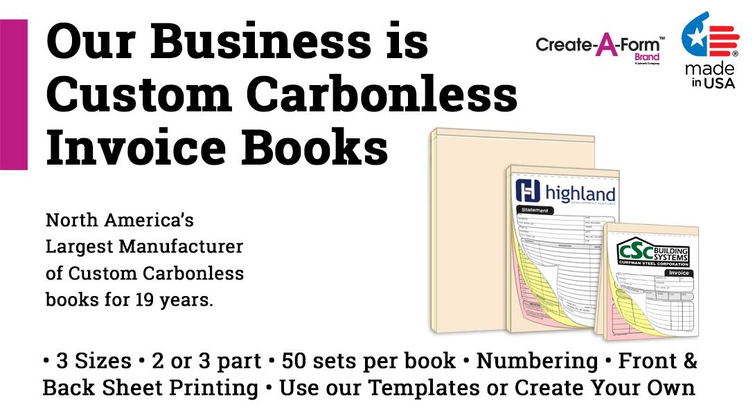 NCR Invoice Receipt Books X PrintPPScom - Invoice books for business