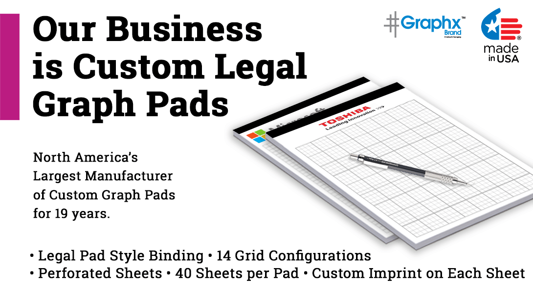 custom legal pads with graph paper pad
