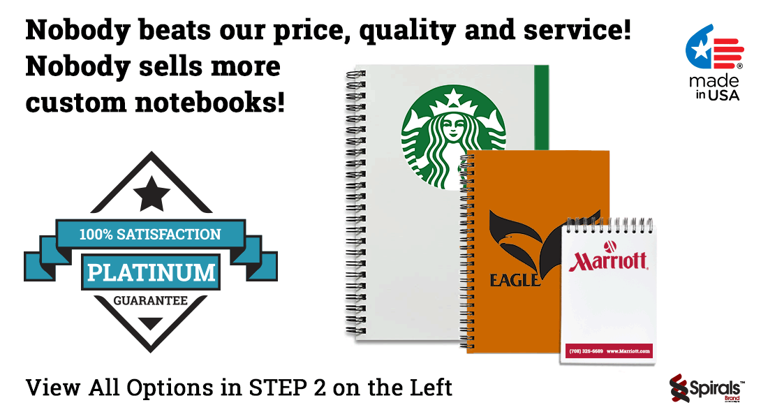 company logo notebooks