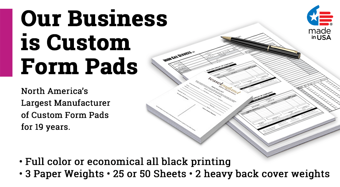 business form writing pads