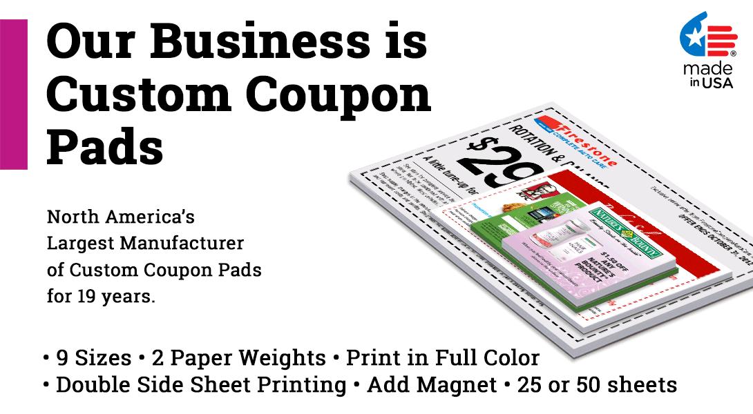 coupon pad printing