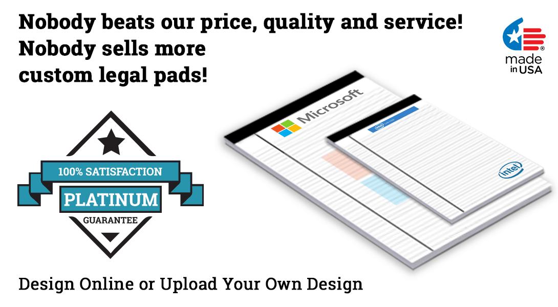 customized legal pad