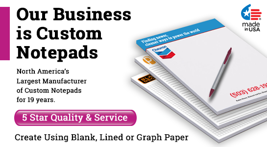custom notepads with logo