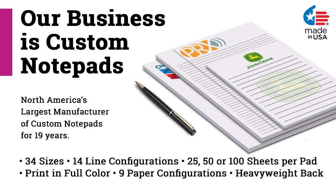 custom made notepads
