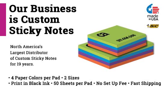 rainbow custom printed post it notes