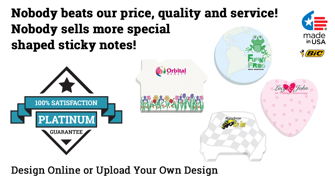 die-cut custom post it note pads