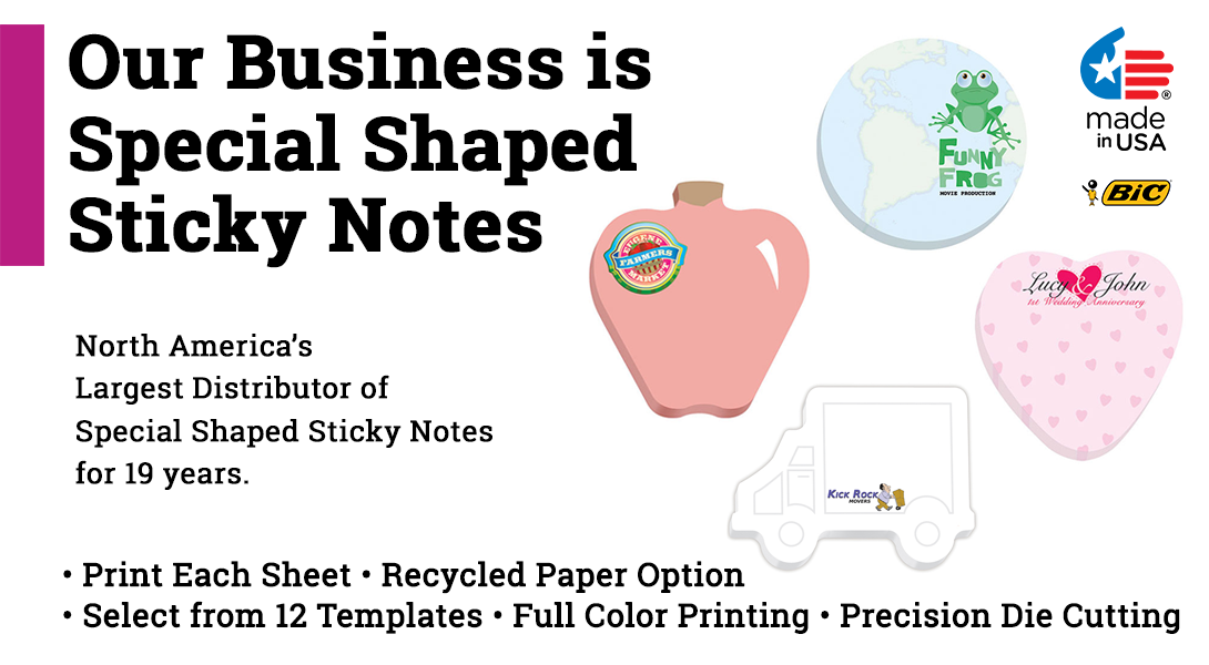 die-cut custom sticky note pads