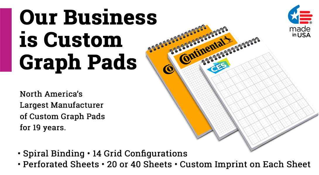 Custom spiral graph paper books