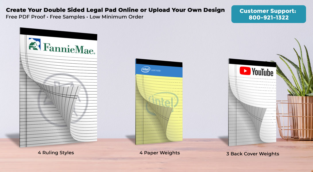 logo double side legal pads