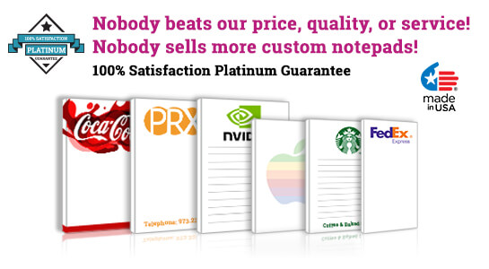 personalized business notepads